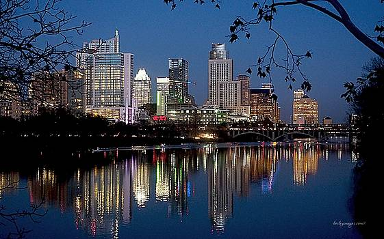 AUSTIN Texas at Sunset by William Bosley