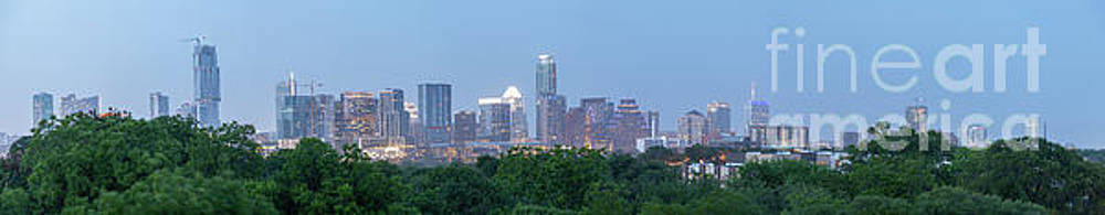 Austin Texas Building Skyline After the the Lights are on by PorqueNo Studios