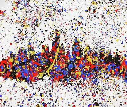 Austin Texas Color Blast Skyline by Dan Sproul