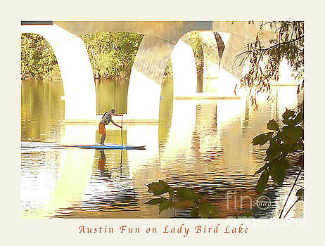 Felipe Adan Lerma - Austin Texas - Lady Bird Lake - Mid November Three - Greeting Card