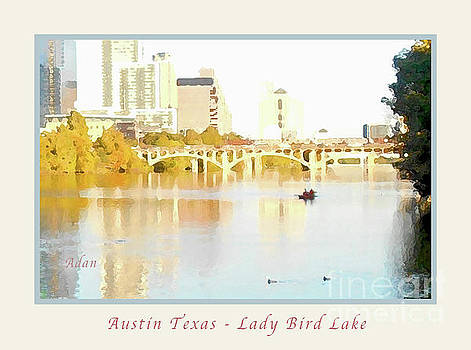 Felipe Adan Lerma - Austin Texas - Lady Bird Lake - Mid November - Two - Art Detail Poster