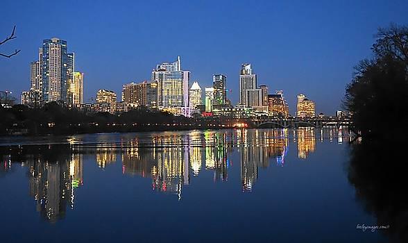 Austin Texas Skyline at Sunset by William Bosley
