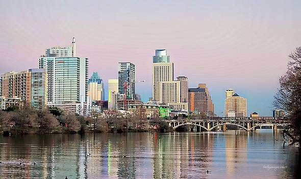 Austin TX Skyline Daylight by William Bosley