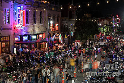 Herronstock Prints - Austins 6th Street bar district is full of thousands of excit