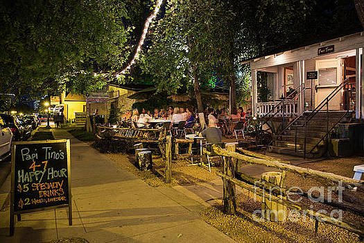Herronstock Prints - Austins East Side features a line of hip new open air patio bars cafes and authentic restaurants