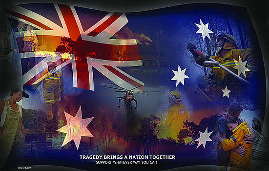 Australia came together by Michelle Dick
