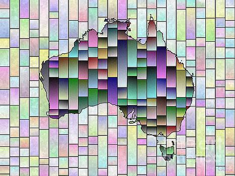 Australia Map Glasa in Multi Colors by Eleven Corners
