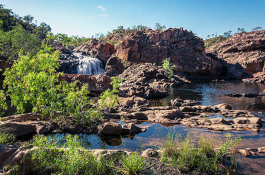 Australian Landscape at Edith Falls, Top End, Australia by Daniela Constantinescu