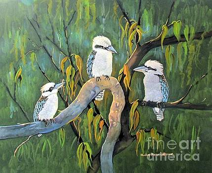 Australian Laughing Kookaburras by Audrey Russill