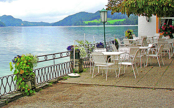 Austrian Cafe on the Lake by Kathy Kelly