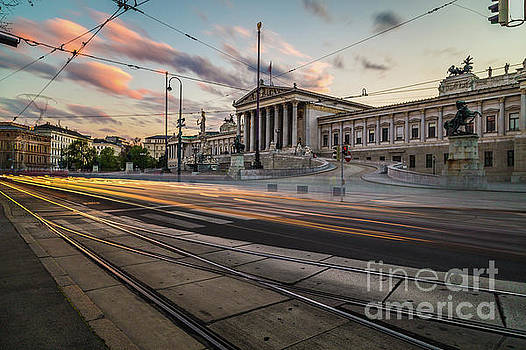 Austrian Parliament in Vienna by Travel and Destinations - By Mike Clegg