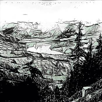 Swiss Vista in Monochrome by Charles Morford