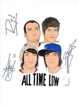 Autographed All Time Low by Michael Dijamco