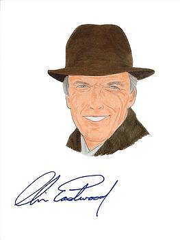 Autographed Clint Eastwood by Michael Dijamco