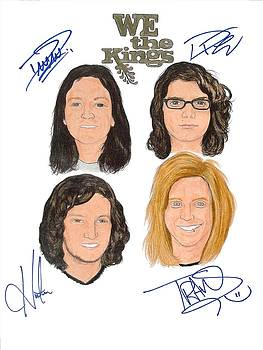 Autographed WE THE KINGS by Michael Dijamco