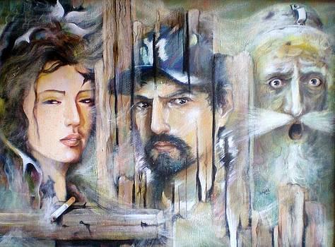 Autorretrato Con El Quijote Y Artemisia by Jesus Alberto Arbelaez Arce