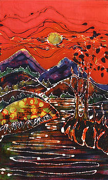Autumn Adirondack Sunset by Carol Law Conklin