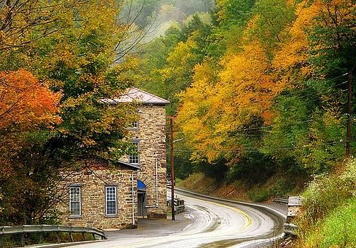 Old Paint Mill Autumn Time by Stephanie Calhoun