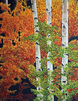 Autumn Aspens by Jennifer Morrison Godshalk