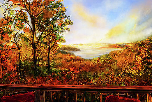 Autumn At Beaver Lake -Beaver Lake Art by Lourry Legarde