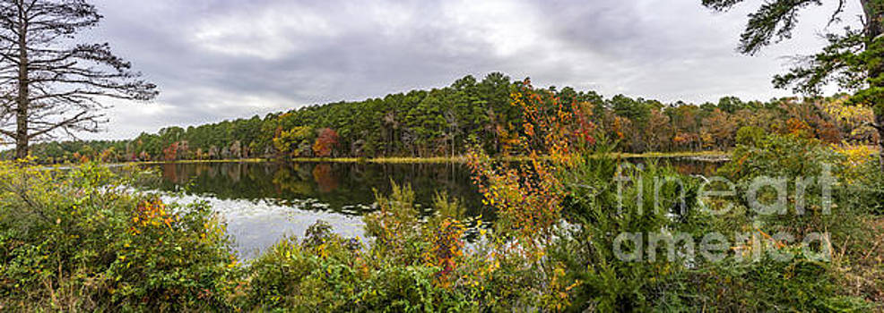 Autumn at Daingerfield State Park Lake by Len Bishop