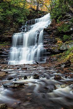 Autumn at Ganoga Falls by Dennis Kowalewski