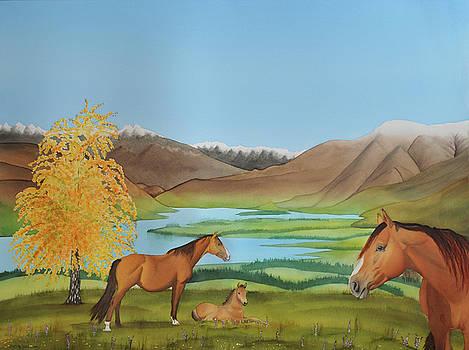 Autumn at Lake Wanaka by Carolyn Judge