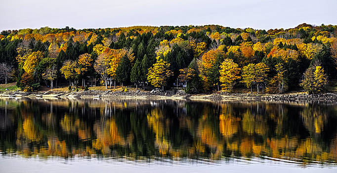 Autumn at Sacandaga Reservoir by Ray Summers Photography