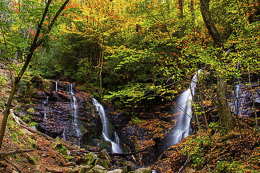Autumn at Soco Falls by Blue Ridge Mountain Life