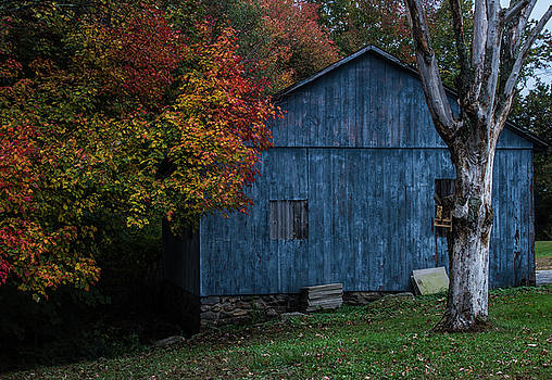 Autumn at the Blue Barn, New England Historic Barn, Plymouth Connecticut by Skyelyte Photography by Linda Rasch
