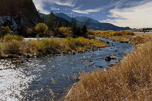 Autumn at the boulder river by Dana Moyer