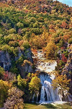 Autumn at Turner Falls by Joan Bertucci