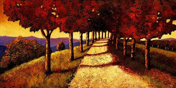 Autumn Avenue by Santo De Vita