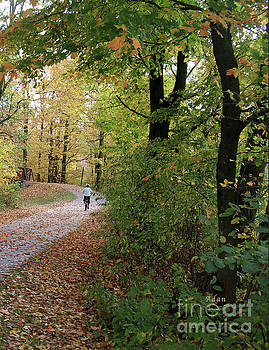 Felipe Adan Lerma - Autumn Bicycling Vertical One