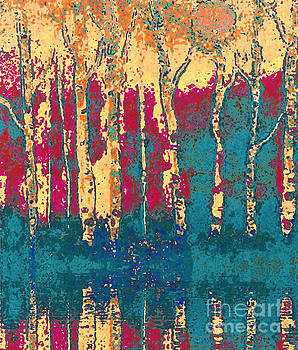 Autumn Birches by Holly Martinson