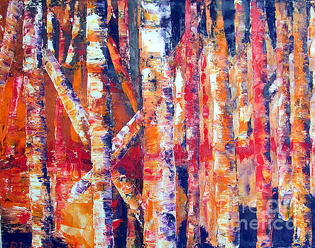 Autumn Birches by Lisa Boyd