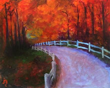 Autumn Bridleway by J Travis Duncan