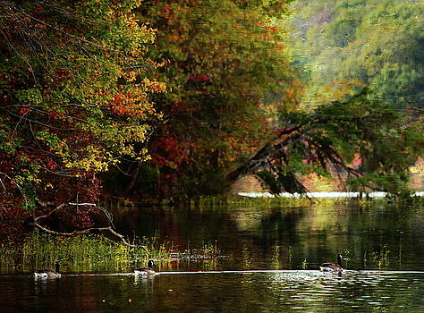 Autumn by The Lake by Scott Fracasso