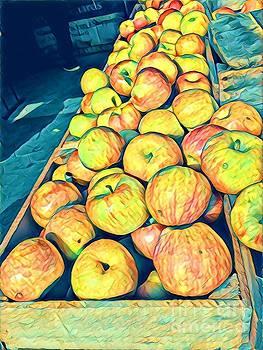 Autumn Cascade - Apples by Miriam Danar