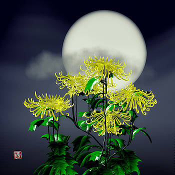 Autumn Chrysanthemums by GuoJun Pan