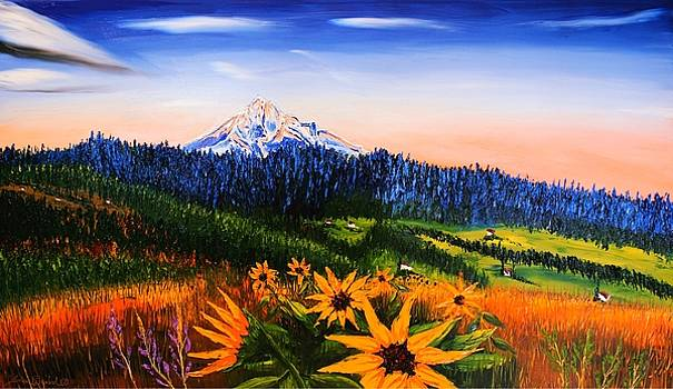 Autumn Colors Of Mount Hood by Portland Art Creations