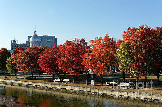 Autumn Colors Old Port of Montreal by John  Mitchell