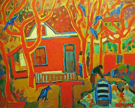 Autumn Cottages by Brian Simons