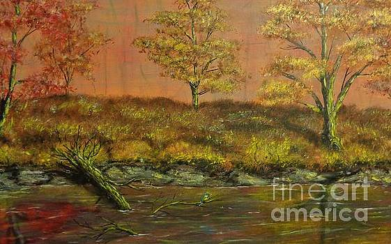 Autumn Creek Untouched by Urban Man Scene 1 by Jack Lepper
