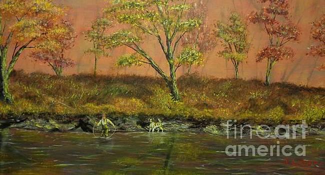 Autumn Creek Untouched by Urban Man Scene 2 by Jack Lepper