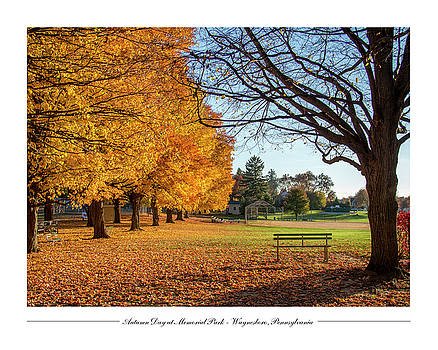 Autumn Day at Memorial Park by Andy Smetzer