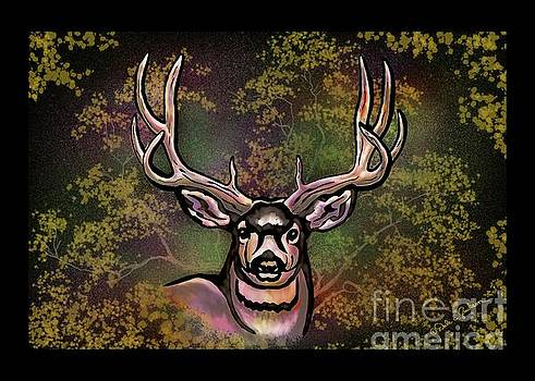 Autumn Deer Abstract by Dale E Jackson