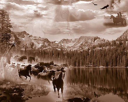 Autumn Dreams - sepia tone by Nadene Merkitch