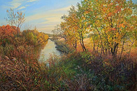 Autumn evening by Galina Gladkaya