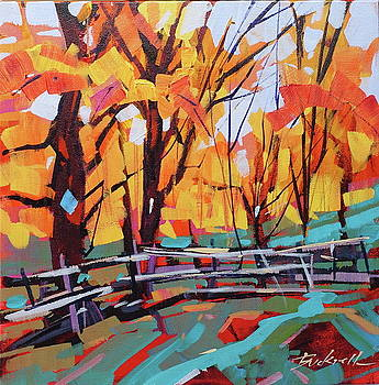 Autumn Fence Line  by Brian Buckrell